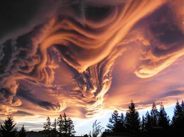ابر موج دار شوریده