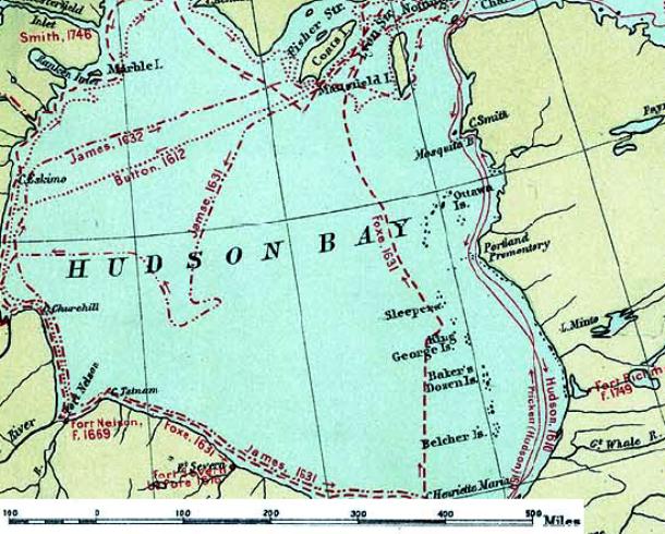 خلیج هادسون تفاوت گرانش