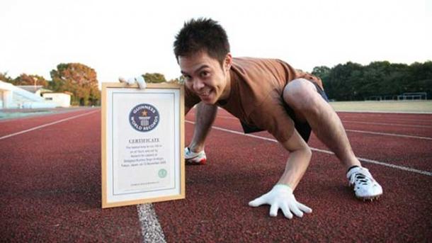 سریع ترین دونده 100 متر به صورت چهار دست و پا ، رکورد گینس