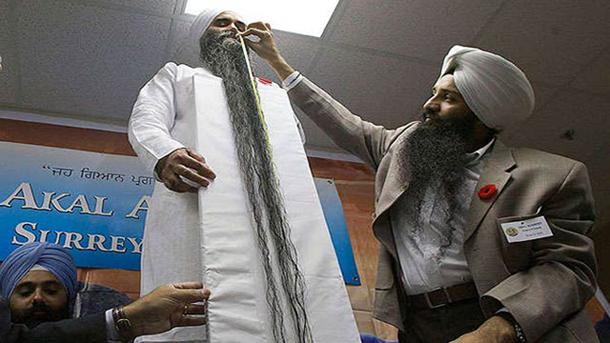 بلندترین ریش جهان ، رکورد گینس