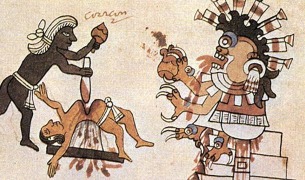 قربانی کردن در قوم مایا
