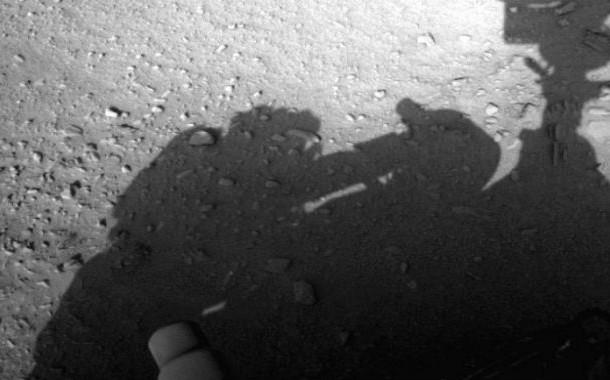 سایه انسان ، روی سطح مریخ