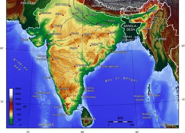 موقعیت جغرافیایی سری لانکا