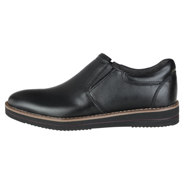 کفش مردانه چرم طبیعی مدل فیگو بی بند کد 20
