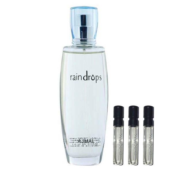 ادو پرفیوم زنانه اجمل مدل Raindrops حجم 50 میلی لیتر به همراه عطر جیبی بسته 3 عددی