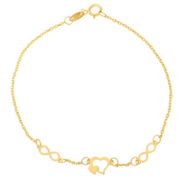 دستبند طلا 18 عیار شانا مدل B-SG140