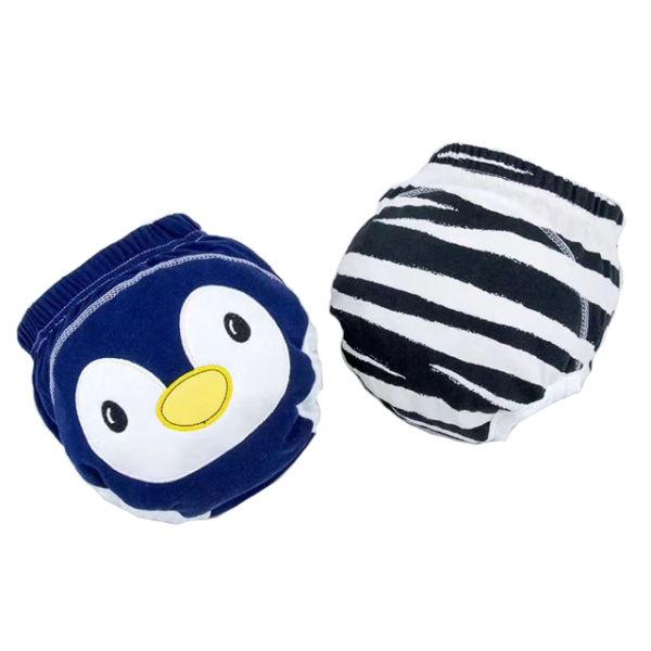 شورت آموزشی کودک مدل پنگوئن مجموعه 2 عددی