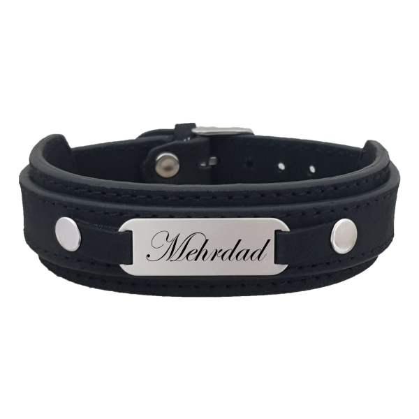 دستبند نقره مردانه ترمه ۱ مدل مهرداد کد 341 DCN