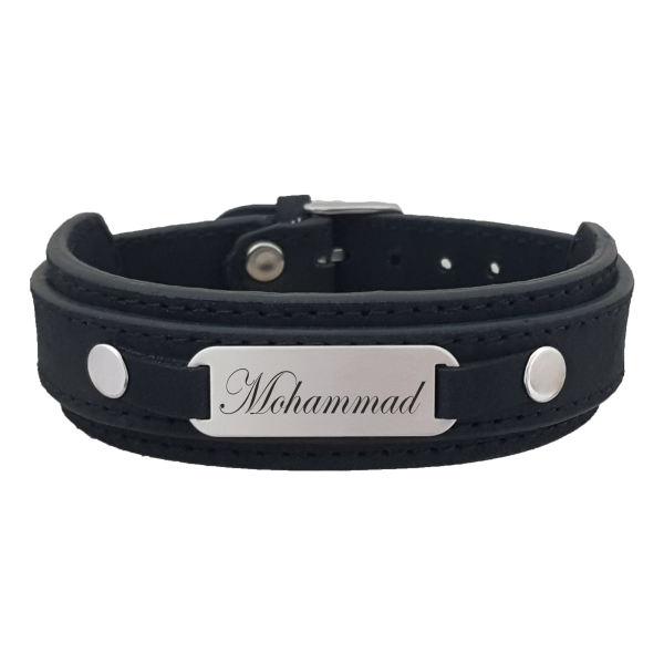 دستبند نقره مردانه ترمه ۱ مدل محمد کد dcn 1001