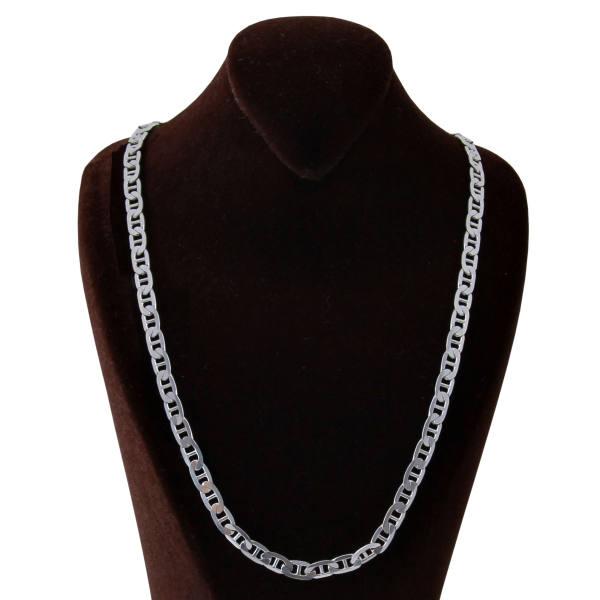 زنجیر نقره مردانه بازرگانی میلادی کد ZR_006