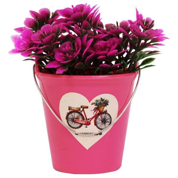 گلدان به همراه گل مصنوعی مدل 01