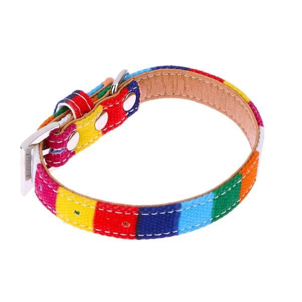 قلاده سگ سری Canvas Collars مدل Colorful Rainbow-S