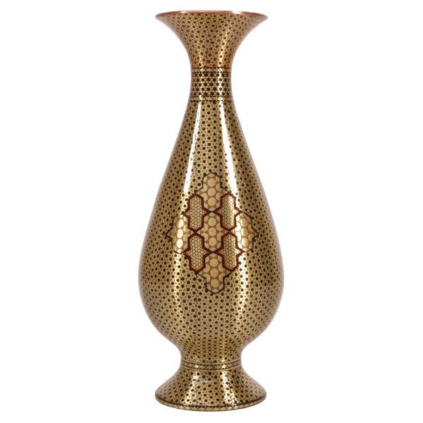 گلدان خاتم کاری گالری گوهران مدل طلا 254