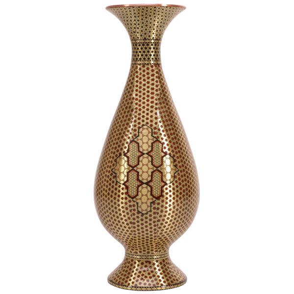 گلدان خاتم کاری گالری گوهران مدل طلا سرخ 255