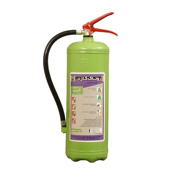 کپسول آتش نشانی روناک گاز خزر مدل 6 حجم 6 لیتر