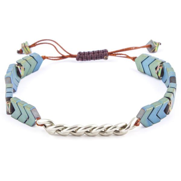 دستبند نقره مردانه ریسه گالری مدل Ri3-H1120-Silver