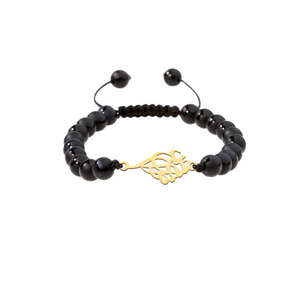 دستبند نقره مردانه ترمه 1 طرح احمدرضا کد M101
