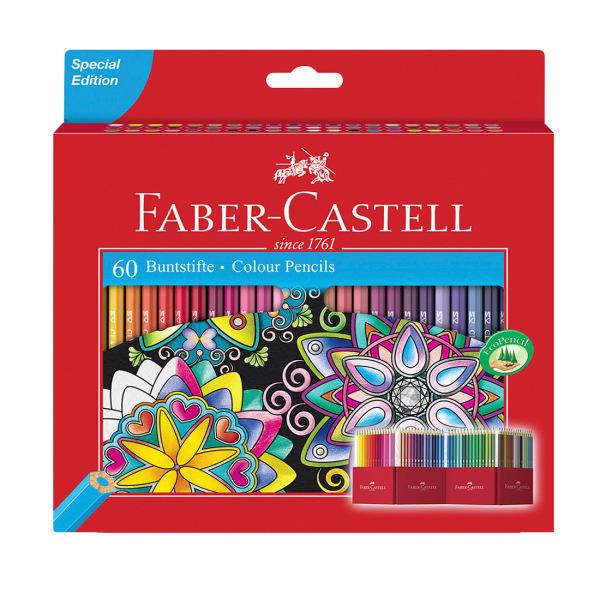 مداد رنگی 60 رنگ فابر کاستل مدل classic