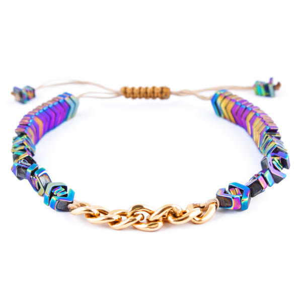 دستبند طلا 18 عیار زنانه ریسه گالری مدل Ri3-H1077-Gold