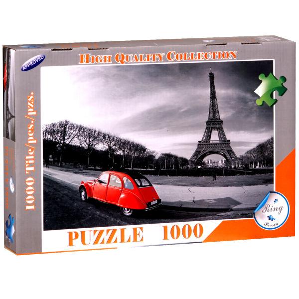 پازل 1000 تکه رینگ طرح روزگاری پاریس