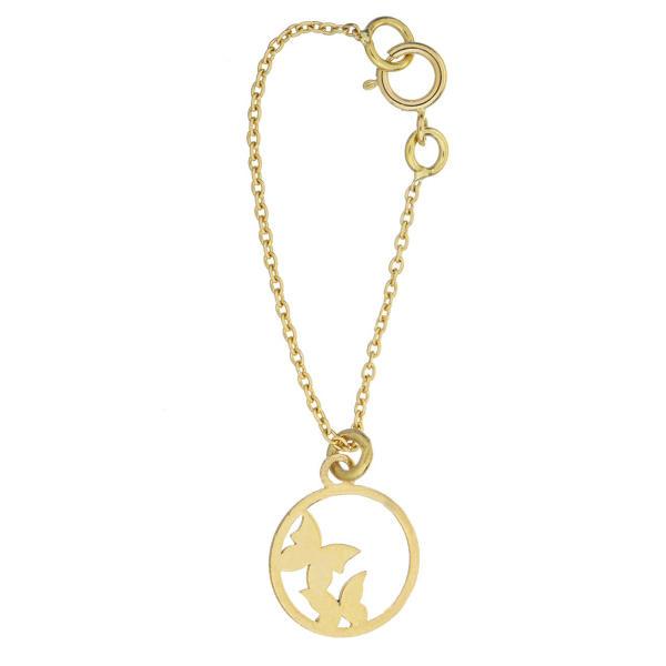 آویز ساعت طلا 18 عیار زنانه طرح پروانه کد SG375