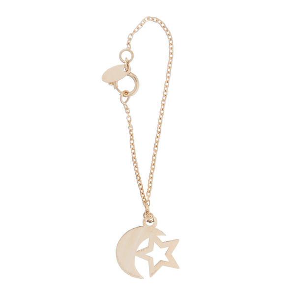 آویز ساعت طلا 18 عیار زنانه طرح ماه و ستاره کد SG482