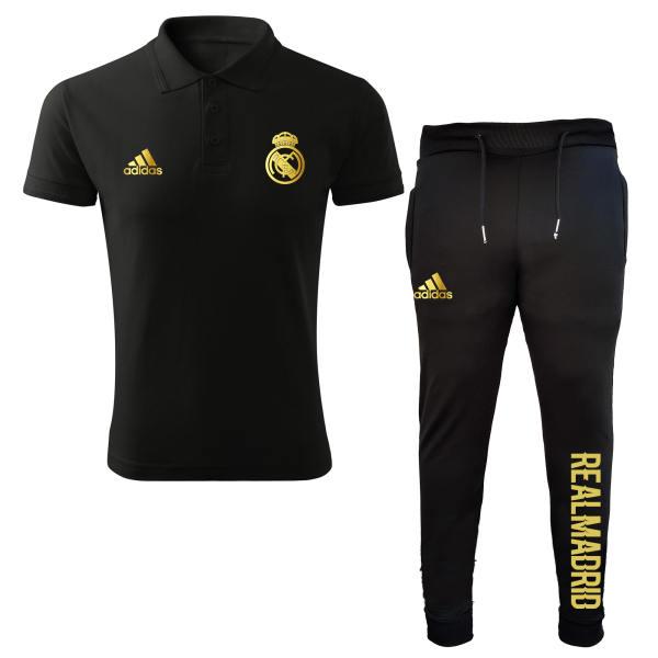 ست پولوشرت و شلوار ورزشی مردانه مدل رئال مادرید 11212