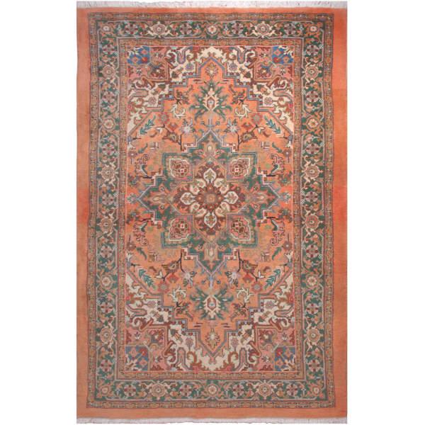 فرش دستبافت سه و نیم متری فرش هریس کد 101414