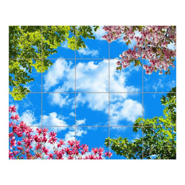 تایل سقفی آسمان مجازی مدل AZ54002 سایز 60*60 سانتی متر مجموعه 20 عددی
