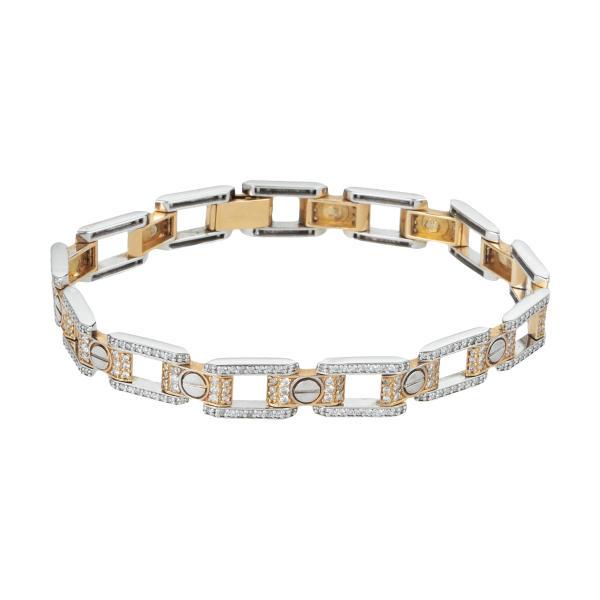 دستبند طلا 18 عیار زنانه کد 1191