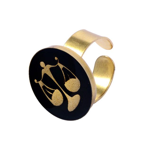انگشتر طلا 24 عیار زنانه طرح ماه مهر کد 1232