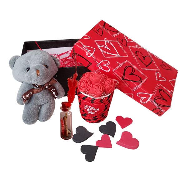 ست هدیه عروسک طرح خرس کد A-333