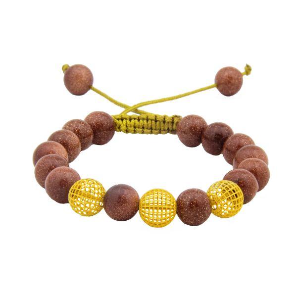 دستبند طلا 18 عیار زنانه جواهری سالی طرح سه گوی مدل Dj831679