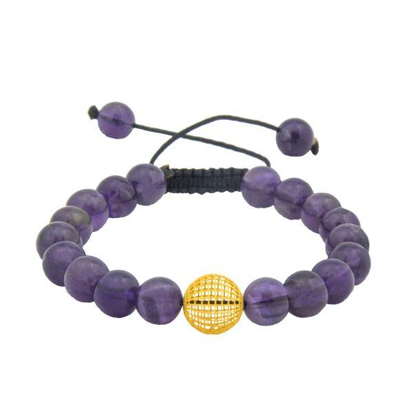 دستبند طلا 18 عیار زنانه جواهری سالی طرح گوی مدل Dj8316711