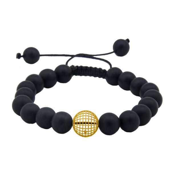 دستبند طلا 18 عیار زنانه جواهری سالی طرح گوی مدل Dj831673