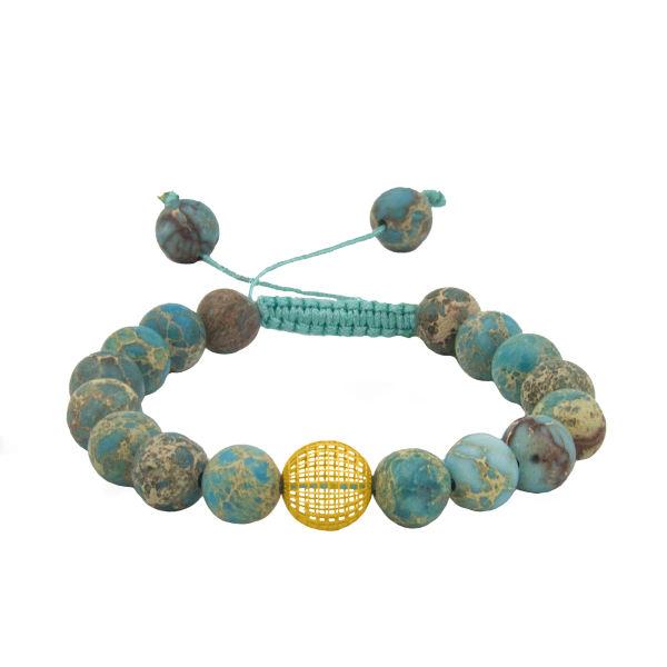 دستبند طلا 18 عیار زنانه جواهری سالی طرح گوی مدل Dj831677