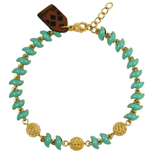دستبند طلا 18 عیار زنانه مانچو کد BFG164