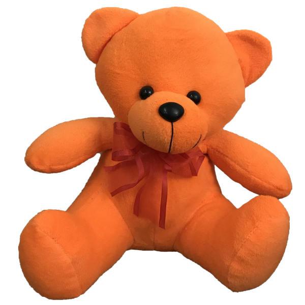 عروسک طرح خرس نشسته پاپیونی ارتفاع 25 سانتی متر