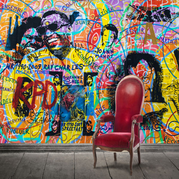 پوستر دیواری سه بعدی طرح دیوار رنگی کد ARTS526