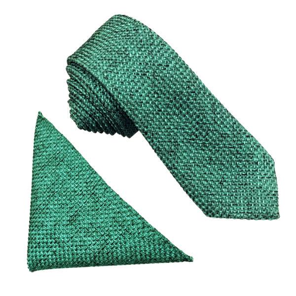 ست کراوات و دستمال جیب مردانه کد KB004