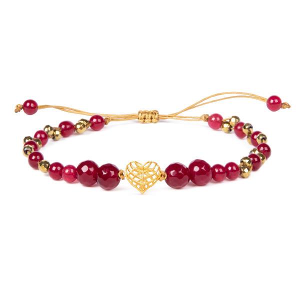 دستبند طلا 18 عیار زنانه ریسه گالری طرح قلب کد Ri3-A1194
