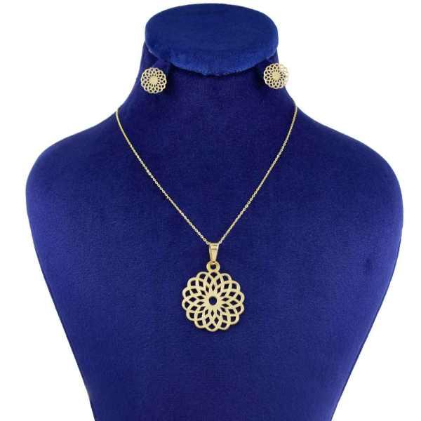 نیم ست طلا 18 عیار زنانه کانیار گالری کد 1429