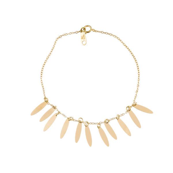 دستبند طلا 18 عیار زنانه کد B151