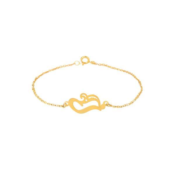 دستبند طلا 18 عیار زنانه زرلوکس کد zar04
