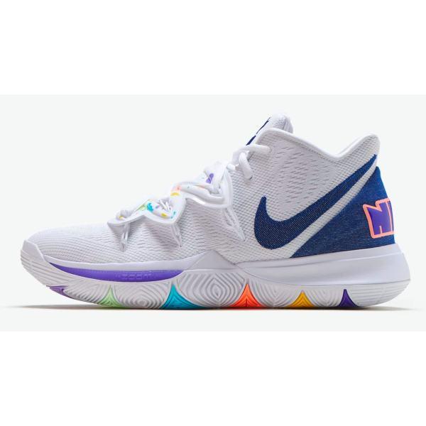 کفش بسکتبال مردانه مدل Kyrie 5 Have a Nike Day کد AO2918-101 غیر اصل