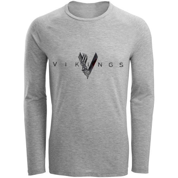 تی شرت آستین بلند مردانه طرح vikings مدل S280