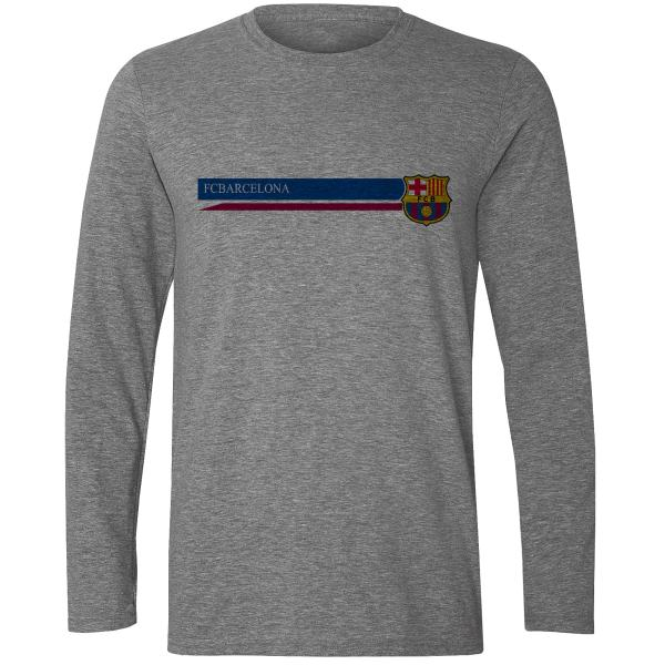 تیشرت آستین بلند مردانه طرح بارسلونا کد S424