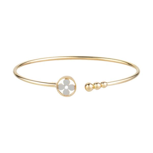 دستبند النگویی طلا 18 عیار زنانه آلند کد D17