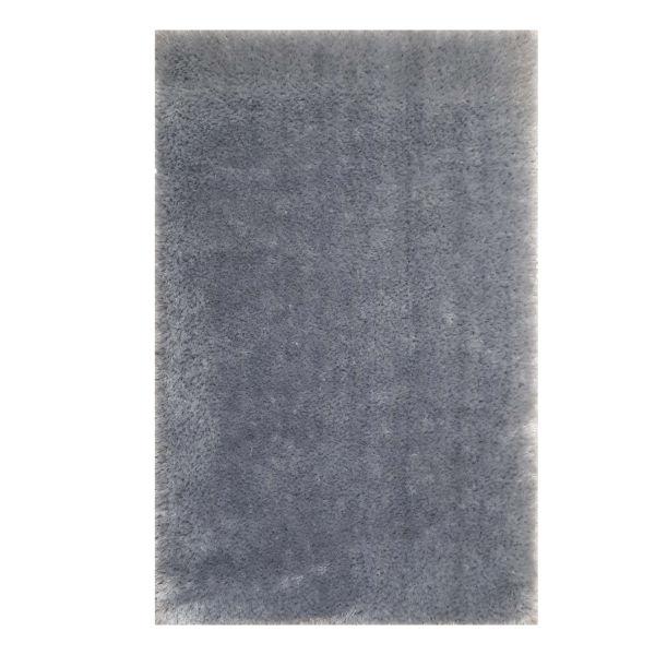فرش ماشینی مدل شگی کد 5013 زمینه نقره ای