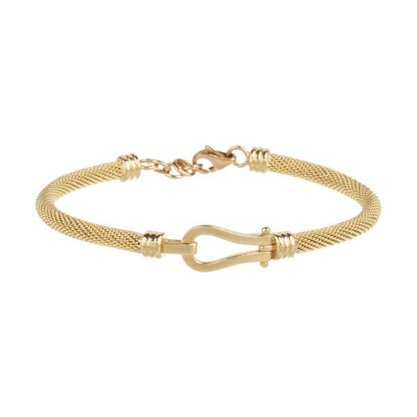 دستبند طلا 18 عیار زنانه آلند کد D21